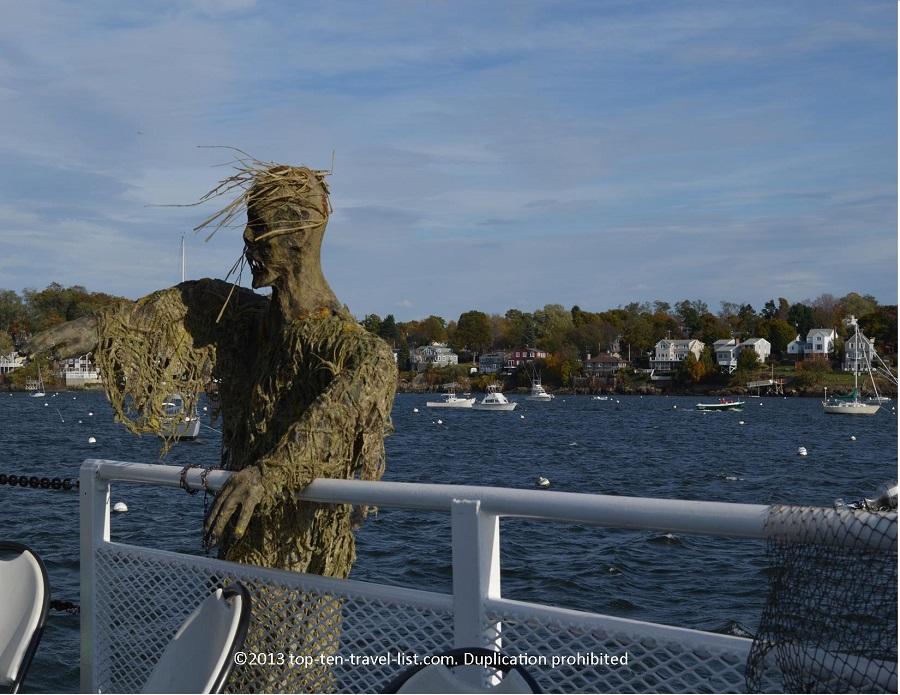 Zombie on Salem Haunted Harbor cruise