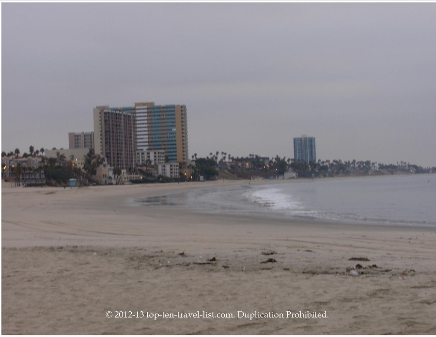 A deserted morning scene in Long Beach, California