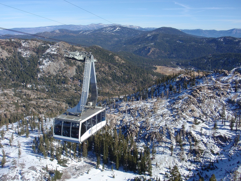 Scenic tram ride at Lake Tahoe's Squaw Valley