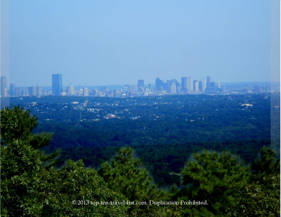 View of the Boston Skyline from Eliot Tower at Blue Hills Reservation