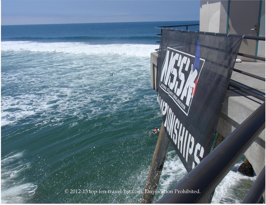 Surfing championships at Huntington Beach