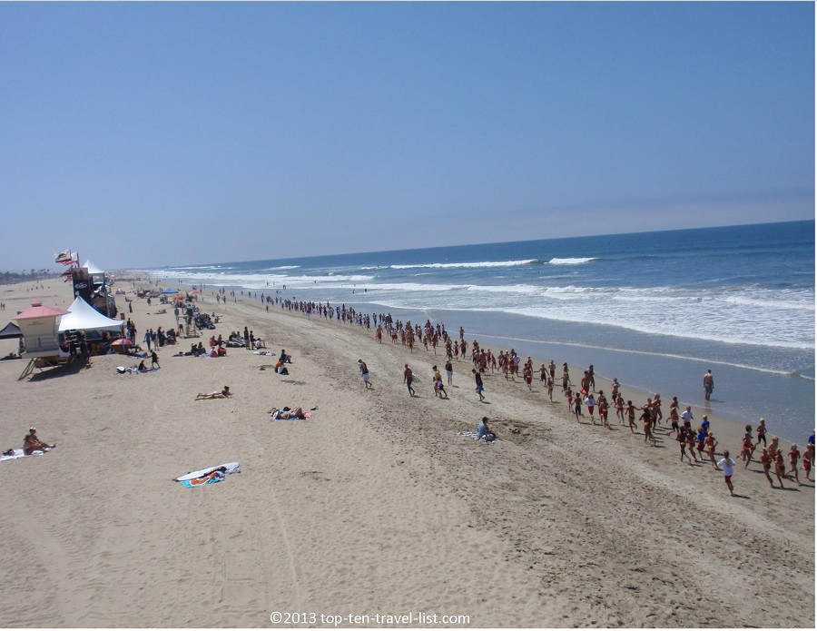 Huntington State Beach in Huntington Beach, California