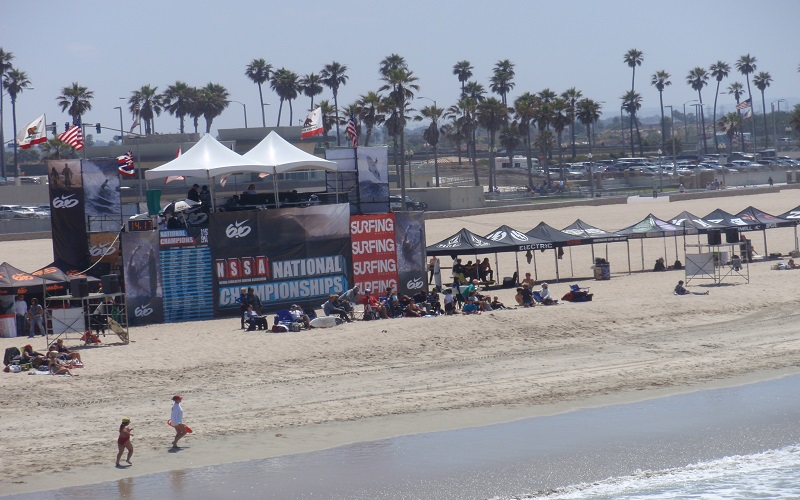 Surfing championships in Huntington Beach