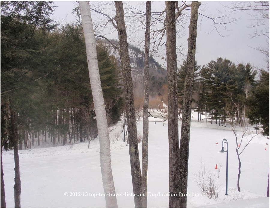 Beautiful winter's day at Nestlenook Resort in New Hampshire