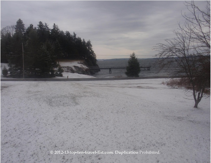 Beautiful winter scene on Islesboro, Maine