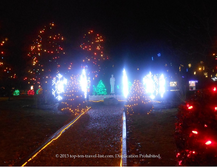 Pretty snowflake lights at La Salette's Festival of Lights event