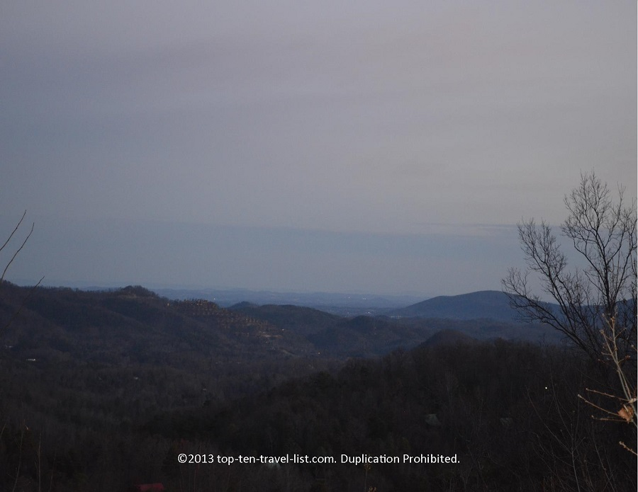 Smoky Mountain views from Life's a Bear cabin rental in Gatlinburg TN