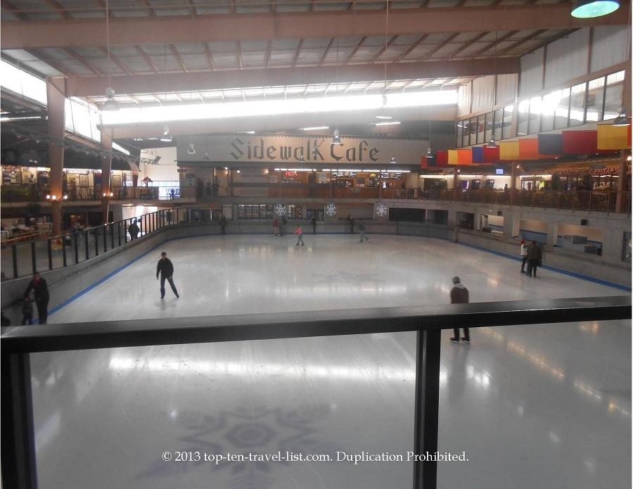 The indoor ice rink at Ober Gatlinburg in the Smokies