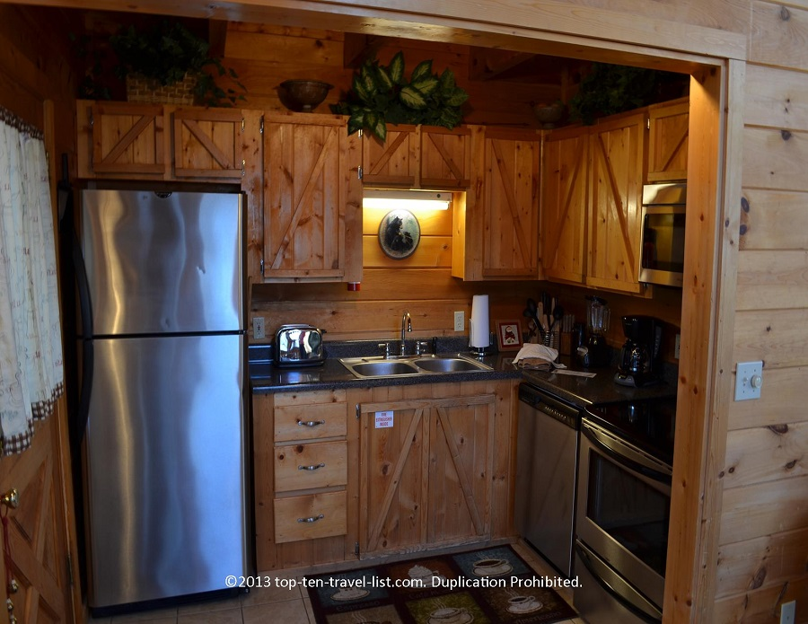 The kitchen at Life's a Bear cabin rental in Gatlinburg TN