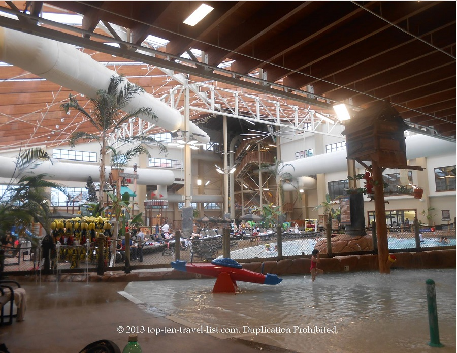 Indoor water park at Wilderness at the Smokies Resort in Seiverville TN