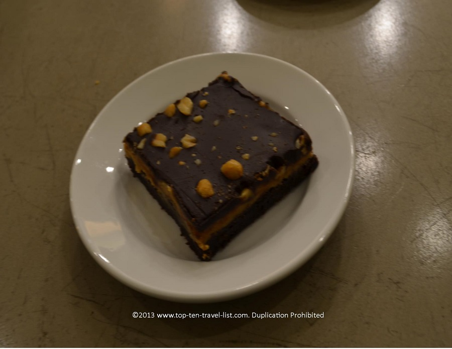 Peanut butter brownie at Wildflour vegan bakery in Pawtucket, Rhode Island