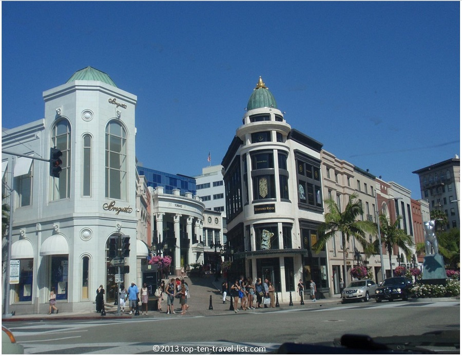 Rodeo Drive shops = Beverly Hills, CA