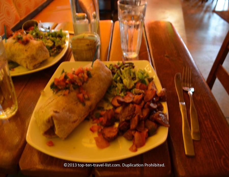 Breakfast burrito at Salvation Cafe in Newport