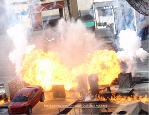 Extreme stunt show at Hollywood Studios - Orlando, FL