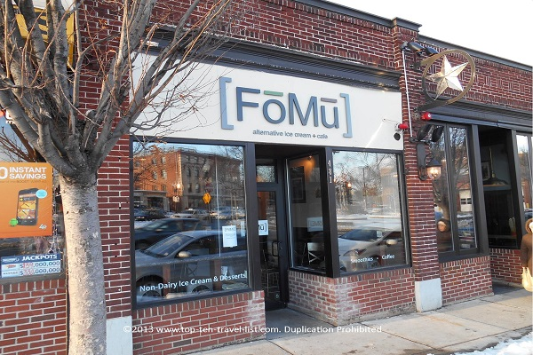 Fomu vegan ice cream in Allston, MA
