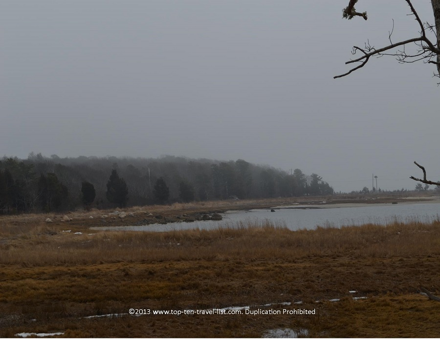 Marsh view at Great Neck Wildlife Refuge in Wareham, Massachusetts