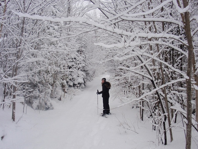 Snowshoeing at Bear Mountain Lodge in Bethlehem, New Hampshire