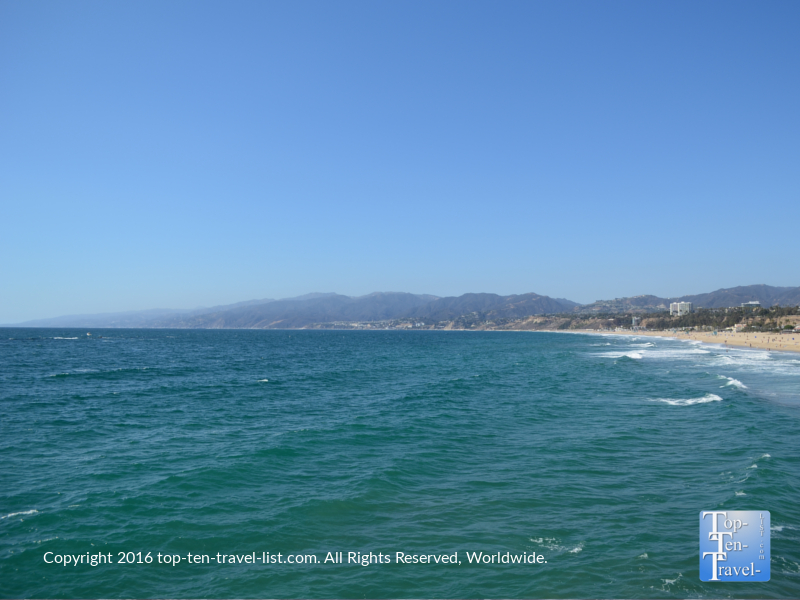 Beautiful views at Santa Monica beach
