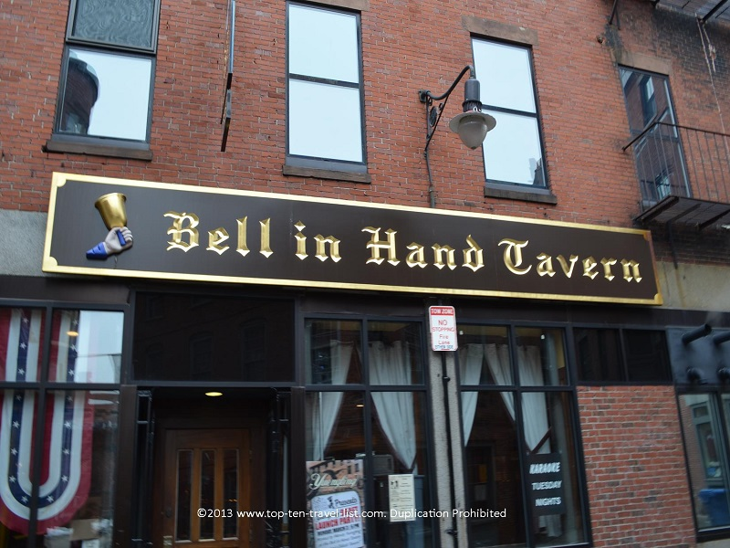 Bell in Hand tavern - the oldest in the US - Boston Freedom Trail