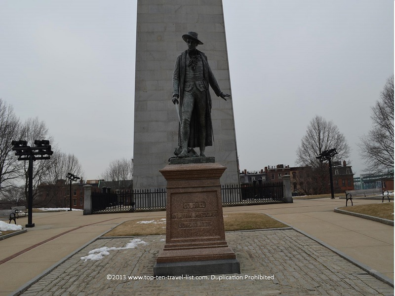 Colonel William Prescott statue Bunker Hill - The Freedom Trail