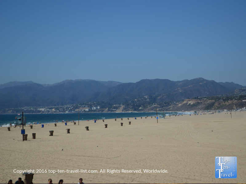 Beautiful mountain scenery at Santa Monica State Beach