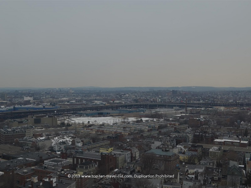 Views of Boston from Bunker Hill - The Freedom Trail