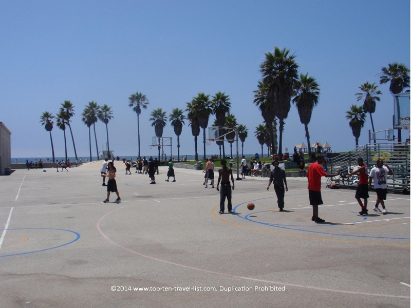Famous Venice Beach basketball courts - Venice, California