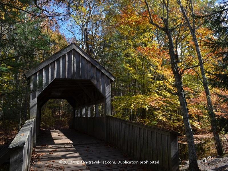 Covered bridge at Devil's Hopyard State Park - East Haddam, CT