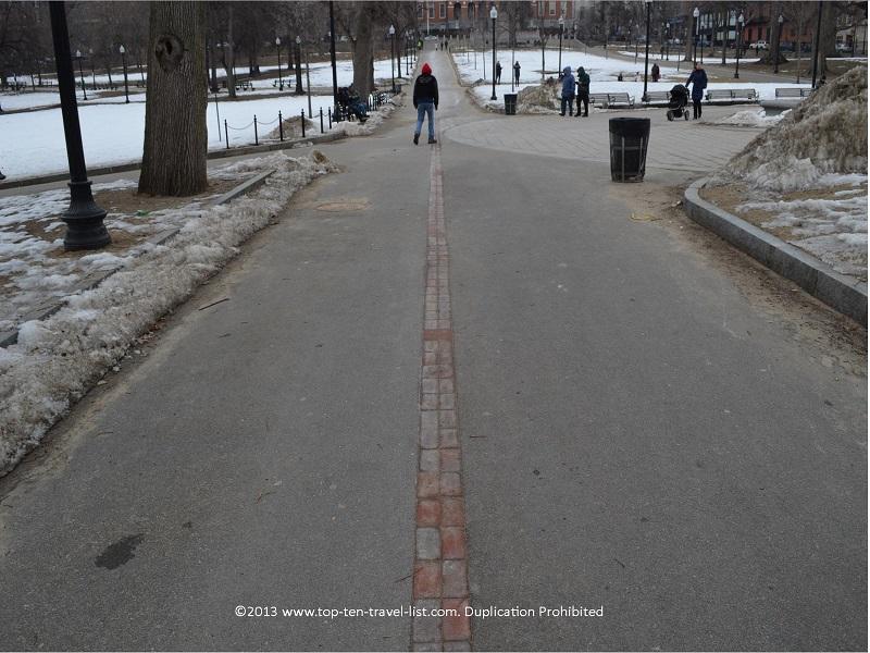 Freedom Trail brick marker - Boston, MA