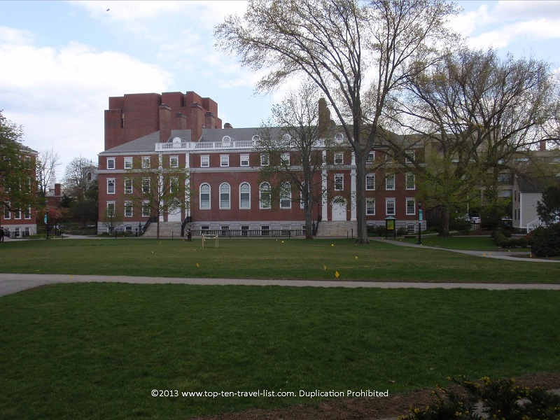 Beautiful historic buildings at Havard University - Cambridge, MA