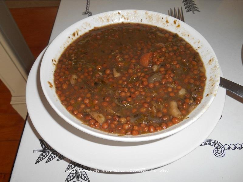 Lentil soup at V Organic Cafe - Upton, MA