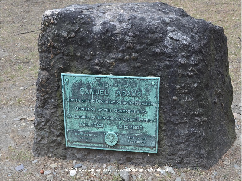 Samuel Adams gravestone - Granary Burial Ground - The Freedom Trail