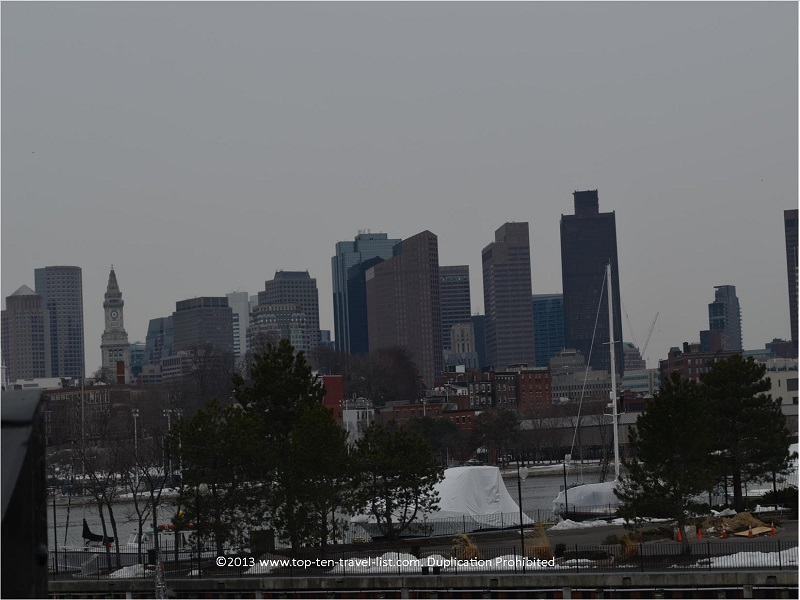 Boston skyline views from the USS Constitution - The Freedom Trail