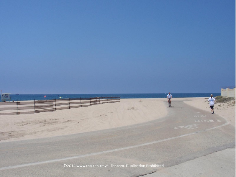 View of Los Angeles county's Stand bike path