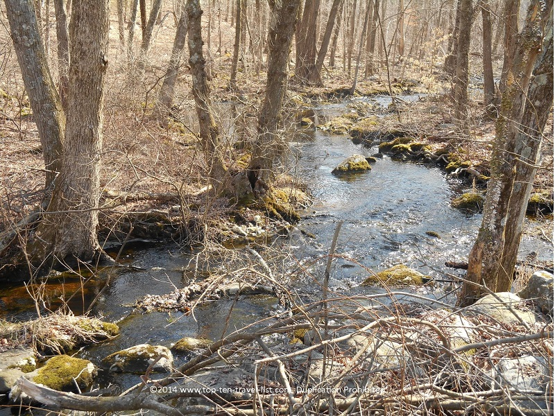 Pretty stream at Caratunk Wildlife Refuge - Seekonk, MA