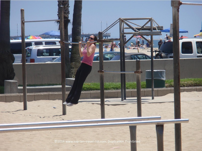 Venice Beach acrobatic equipment