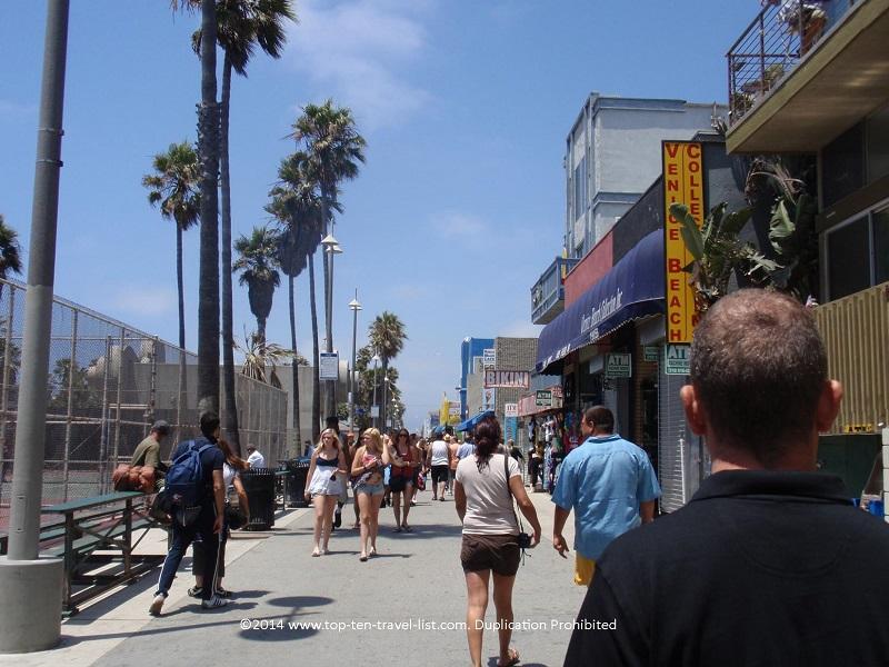 Venice Beach, CA shops and restaurants