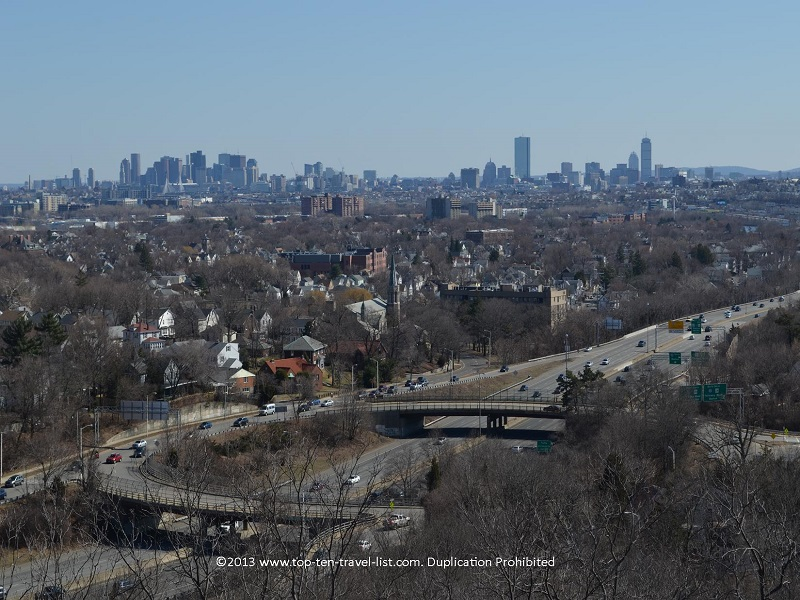 Boston skyline views at Middlesex Fells Reservation