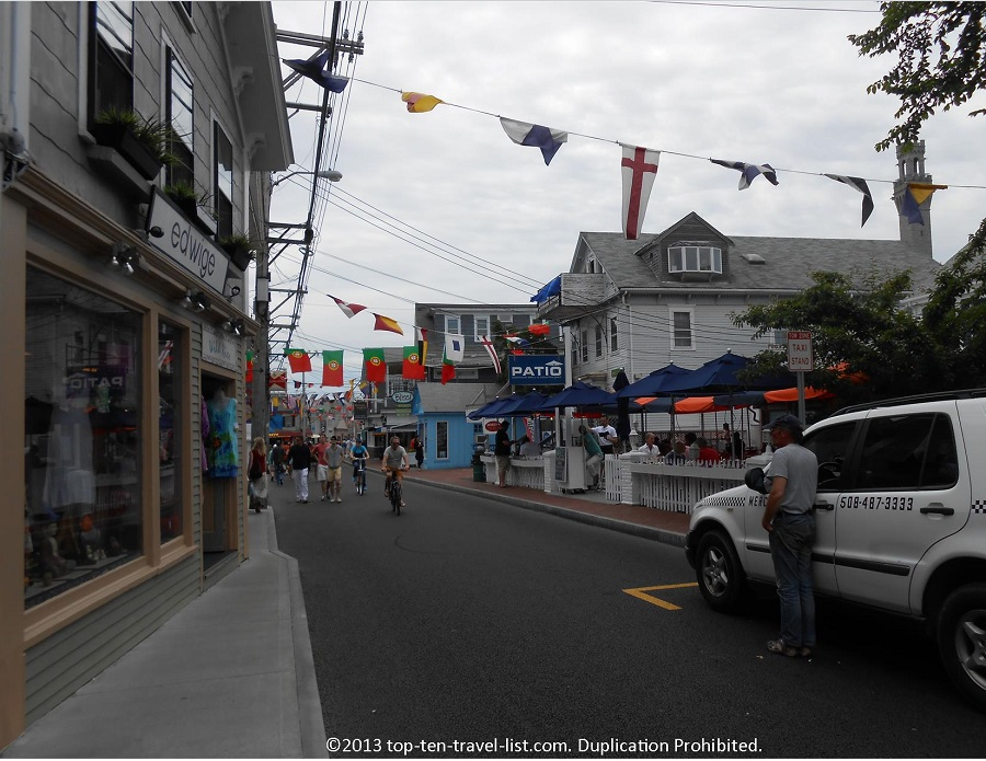 Commercial Street in Provincetown, Massachusetts