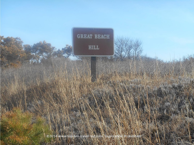 Great Beach Hill sign - Cape Cod's Great Island Trail