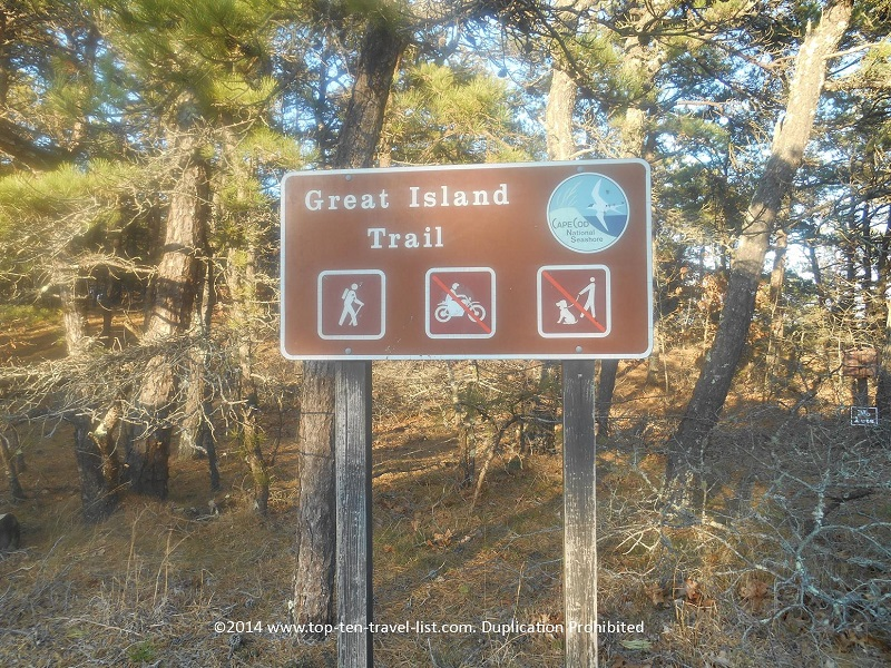 Great Island Trail sign - Sandwich, Massachusetts