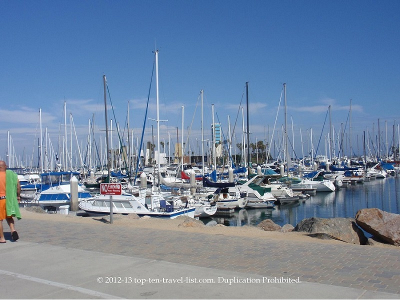 Rainbow Harbor in Long Beach, California