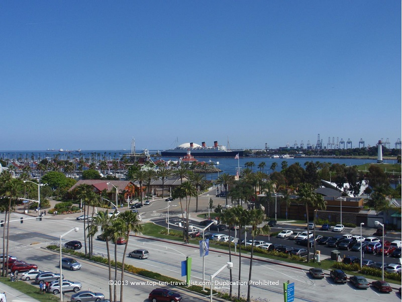 Great views from the Long Beach, CA Ferris Wheel