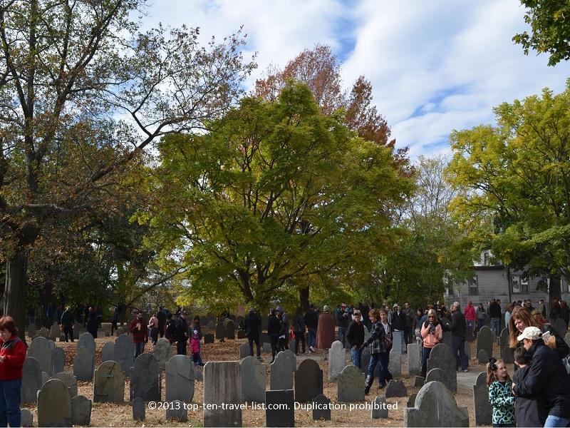 Old Burying Ground in Salem, Massachusetts