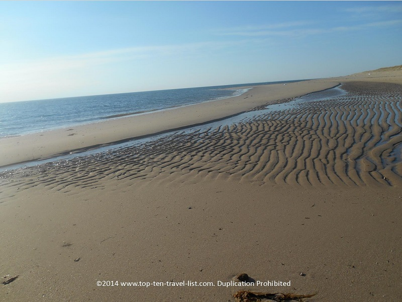 Beautiful ripples on the sand - Cape Cod