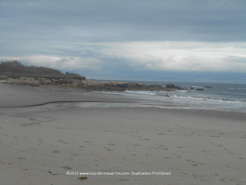 Scenic views at Scarborough State Beach in Narragansett, Rhode Island