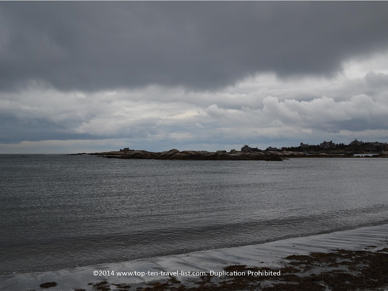 Storm clouds at Goosebury Beach in Newport, Rhode Island
