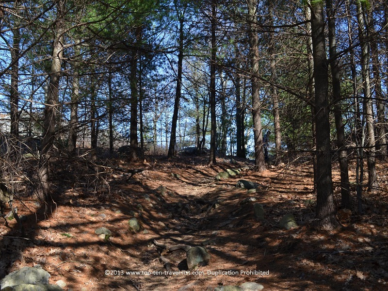 Scenic uphill climb at Massachusetts' Middlesex Fells Reservation