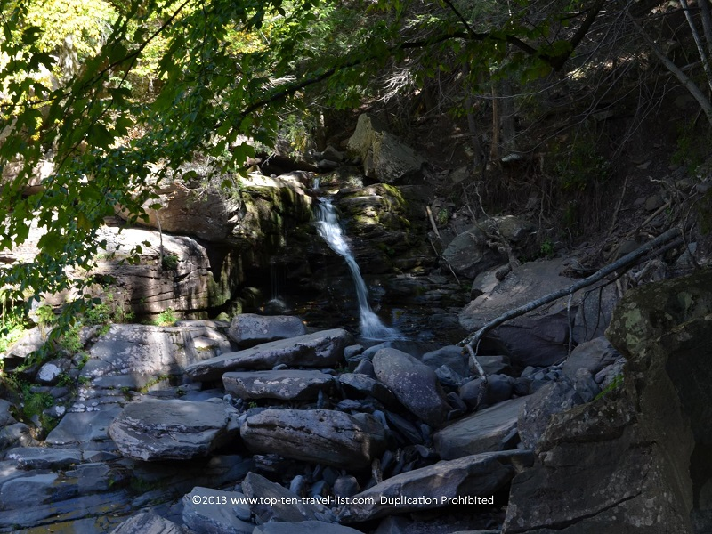 Waterfall on the Kaaterskill Falls hike in Palenville, NY