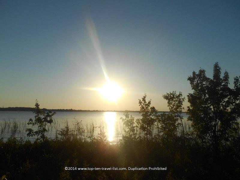 Beautiful sunset at John Chestnut Park - Palm Harbor, Florida